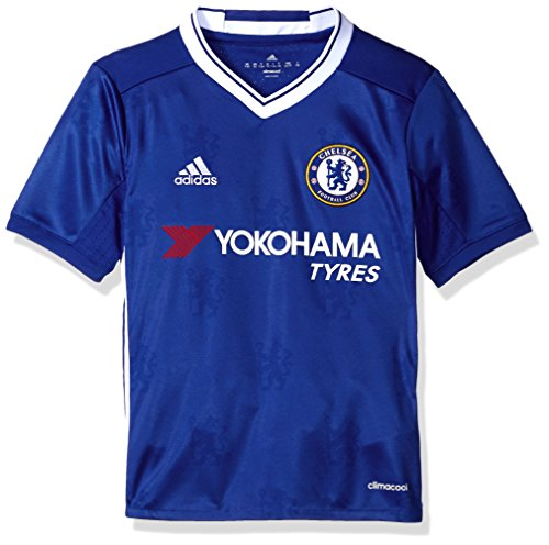 adidas Soccer Chelsea Youth Jersey, X-Small, Blue/White -