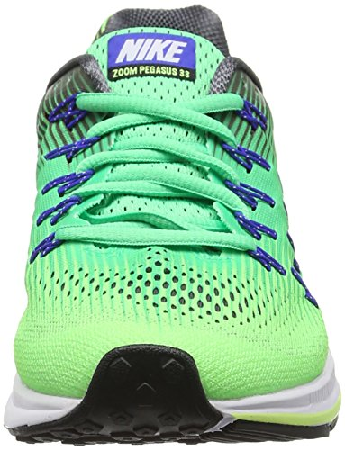 buy online 5e55a 39c1c Nike Wmns Air Zoom Pegasus 33, Scarpe da Corsa Donna Verde (Electro Green   ...