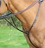 AVIEMORE HUNT WEIGHT BREASTPLATE HORSE EQUESTRIAN TACK RIDING [HAVANA] [FULL]