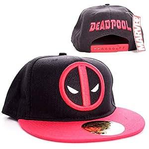 Marvel Comics Deadpool Casquettepour homme réglable à l'arrière –Logo classique baseball, noir