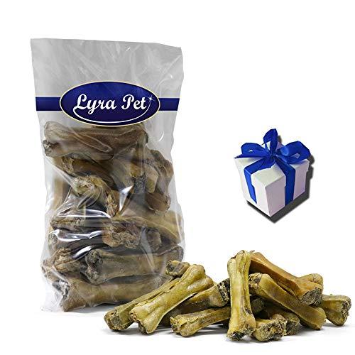 Lyra Pet 50 Kauknochen gefüllt mit getrocknetem Pansen ca. 10 cm Snack +Geschenk