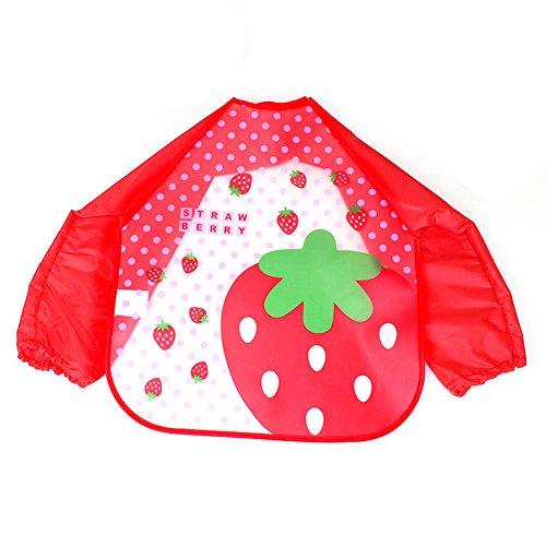 Baby Lätzchen Ärmellätzchen Wasserdicht Halstuch Babylätzchen Baby Halstücher Rot Erdbeere