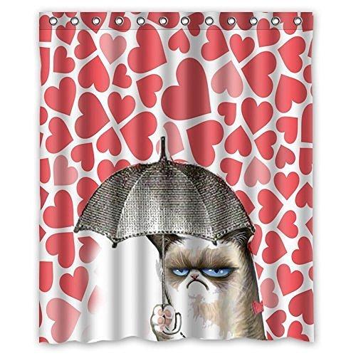 Dream Außerhalb Funny Katzen Duschvorhang mit Design 152,4cm (W) X 182,9cm (H) Wasserdicht Mehltau Stoff (April Showers-stoff)