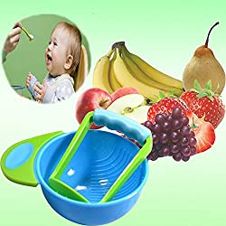 Chronex™ Mash and Serve Bowl for Making Homemade Baby Food BPA Free- Blue