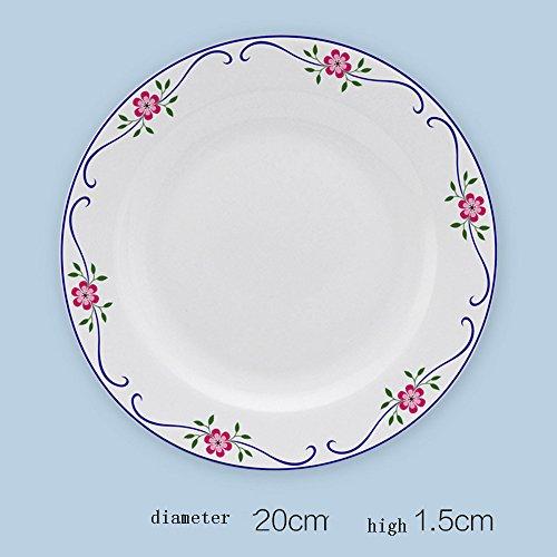 Piatto / Posate / creativo articoli per la tavola del piatto / articoli per la tavola piatto di ceramica / minestra / Piatto freddo piatto (8 pollici) (multi-colore facoltativo) ( colore : G. , dimensioni : 2 Pieces )