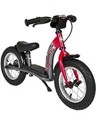 BIKESTAR® Original Premium Sicherheits-Kinderlaufrad für mutige Entdecker ab 3 Jahren ★ 12er Classic Edition ★ Feurig Rot & Sternen Grau