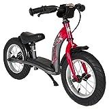 BIKESTAR® Premium Sicherheits-Kinderlaufrad für mutige Entdecker ab 3 Jahren ? 12er Classic Edition ? Feurig Rot & Sternen Grau