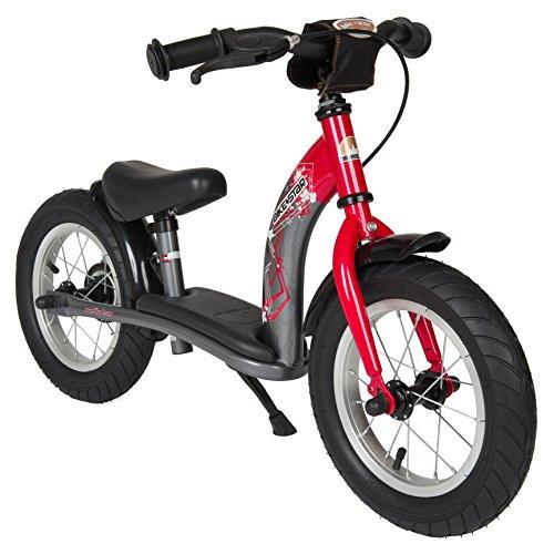 Preisvergleich Produktbild BIKESTAR® Original Premium Sicherheits-Kinderlaufrad für mutige Entdecker ab 3 Jahren  12er Classic Edition  Feurig Rot & Sternen Grau