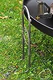 BTV Outdoor Feuerschale + Zubehör - 3mm starke PREMIUM-Feuerschale mit Design-Füßen, XL ca. 60 cm inkl. Reinigungs- und Besteckzubehör PREMIUM-Feuerschalen mit Design-Füßen, XL ca. 60 cm XL Holzkohlegriller Würstchengrill