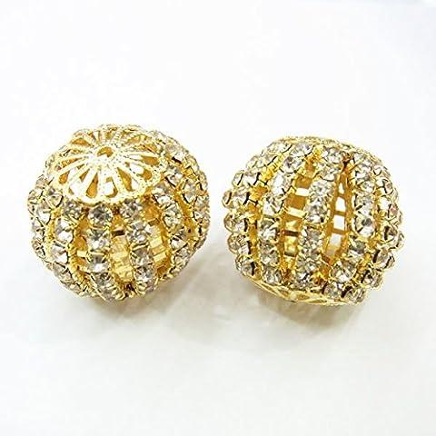thetastejewelry 21x 24mm Spacer Gold Ton Großhandel 10PCS–3196–Ergebnisse Schmuckherstellung Enden Charm Bead