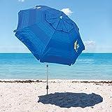 Tommy Bahama sombrilla de Playa colección 2019 Modelo Azul. con Anclaje para Arena