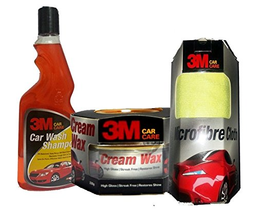3m combo of cream wax, microfiber cloth and car shampoo (500 ml) 3M Combo of Cream Wax, Microfiber Cloth and Car Shampoo (500 ml) 51xTd0W2UgL