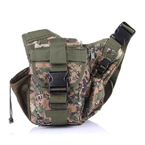 Z&N Backpack Mehrzweck- Militär-Fans taktische Satteltaschen Taschen Outdoor-Freizeit Schulter Messenger Rucksack Wanderrucksack I