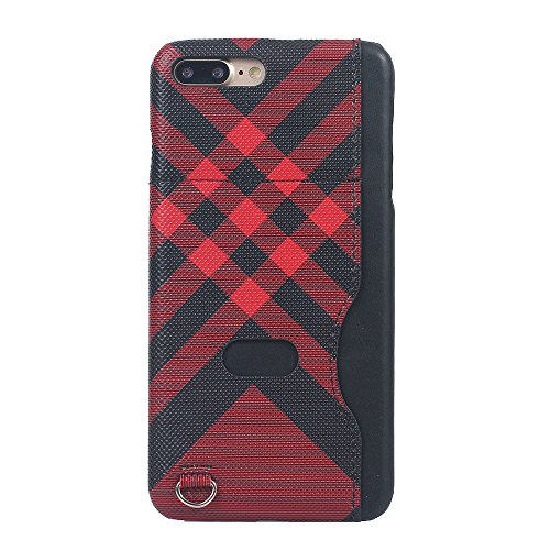 iPhone 8 Plus Coque,Valenth Protective Hard Back Coque Etui avec slot pour carte pour iPhone 7 Plus / 8 Plus Red