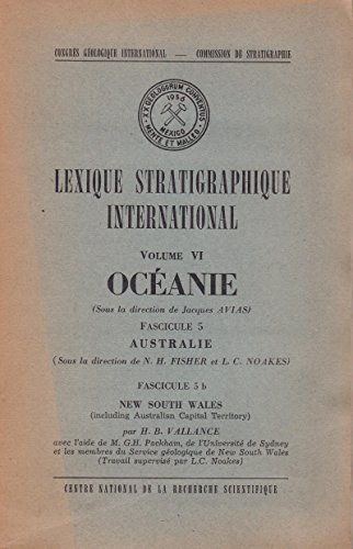 Océanie, Australie, New South Wales - Lexique stratigraphique international, volume VI, fascicule 5 & 5b