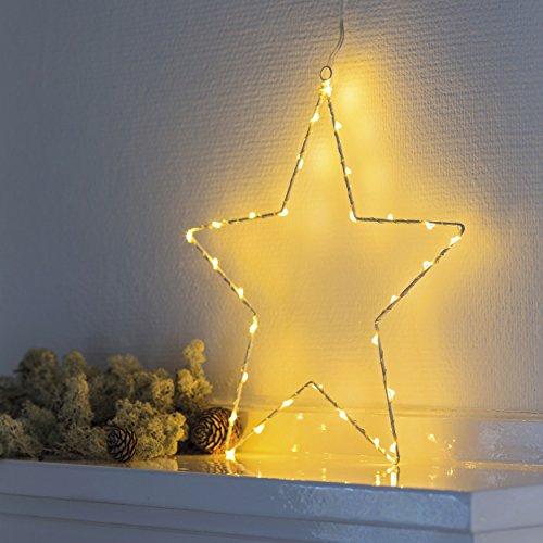 Sirius LED Leuchtstern Liva Star 30 cm Metall weiß (Radios Mit Sirius Satellite)