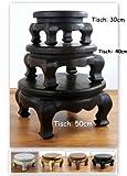 Asia Wohnstudio Runder Opiumtisch, Beistelltisch aus Massivholz, Massivholztisch der Marke, Couchtisch, Nachttisch