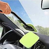 Goldyqin Parabrisas de plástico portátil Fácil Fácil Limpiador-Microfibra Ventana Limpia en su Coche o Lavable Inicio Rápido Fácil Shine práctico