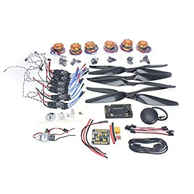 BGNing Necessity kits 700KV Motor+30A ESC+1555 Props + APM2.8 + GPS for 680-700 6-Aix RC Drone Quadcopter Hexacopter Multi-Rotor Aircraft from BGNing
