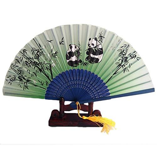 Chinesische Seidenblume Panda Anima Falthandfächer Hohl Handfächer Blume Tier Tanzparty Casual Supplies ()