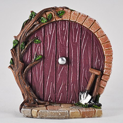 Miniatur Lila Hobbit Tür – Baum Garten Home Decor – Fun Quirky Elf, Pixie, Fairy Geschenk Figur – 7 (Home Decor Bäume)