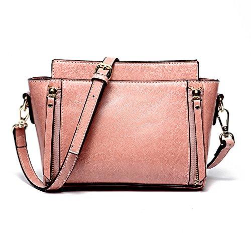ae29ec5968 2018 New Oil Wax Leather Handbag Borsa a tracolla portatile a tracolla  portatile in pelle bianca