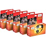 TopShot Lot de 5 appareils photo jetables pour 27 photos avec flash