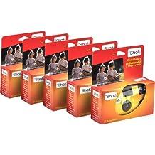 TopShot 376049 - Cámara desechable con flash (5 x 27 disparos), naranja