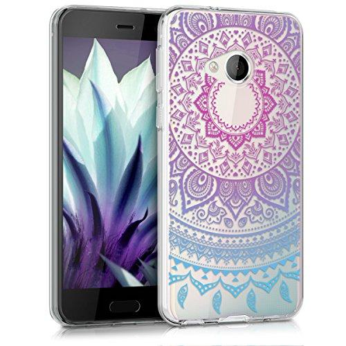 kwmobile HTC U Play Hülle - Handyhülle für HTC U Play - Handy Case in Blau Pink Transparent