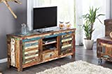 DuNord Design TV-Board Lowboard MADRAS bunt 150 Recyclingholz Massivholz Massiv Holz TV Möbel