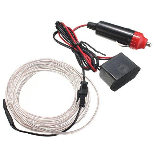 Wooya 300Cm EL Neon Light Effect Light Cable Cord Wire 12V Wechselrichter-Weiß