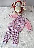 Frühchenset Babyhose und Pullover, rosa Monsterset (Gr. 48-50)
