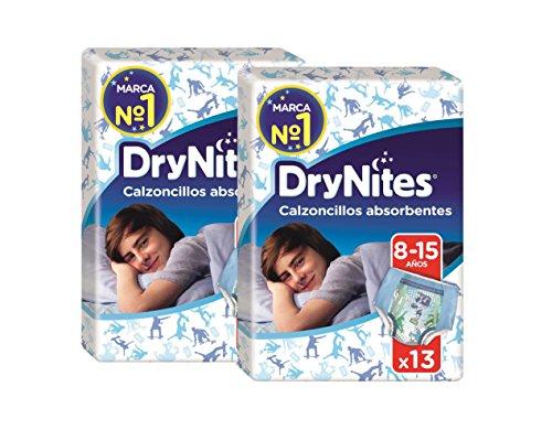 Huggies DryNites, 26 Mutandine assorbenti per la notte ragazzo 8-15 anni (27-57 kg), 2 confezioni da 13