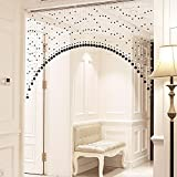 NACHEN Kristall Perlen Vorhang Partition Wohnzimmer Gang Schlafzimmer Badezimmer WC Vorhänge, Black, 20PCs