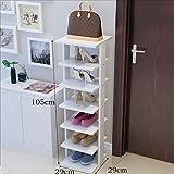 Shoe rackDY Dongy Holz Schuhregal 7 Tiers Bodenständer Lagerregal Dreidimensional, für Männer Damen und Kinder Schuhe Schlafzimmer Foyer Wohnzimmer Büro, 29 * 29 * 105 cm (Farbe : D)