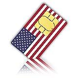 Prepaid Sim-Karte USA - 6GB 4G LTE - Unbegrenzte Nationale Anrufe, Sms & Daten - 30 Tage (Unbegrent Festnetz-Telefonie Deutschland und Die Schweiz & Unbegrentz Mobilfunknet nach Österreich)