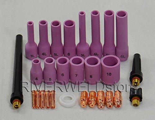 28pcs TIG Collet Alumina Body Nozzle Retour Cap Fit TIG torche de soudage DB SR WP9 20 25