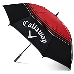 """2016 Callaway Tour Authentic 68"""" Double Canopy Mens Golf Umbrella Black/Red"""
