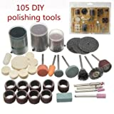 #10: Generic 105Pcs Cutting Grinding Electric Polishing Engraving Drill Bits Rotary Set