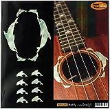 ukulele-fretboard Marker & Rosette Inlay Aufkleber-Dolphin Set (WP)