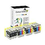 15 Colour Direct LC970 / LC1000 Kompatibel Druckerpatronen Ersatz für Brother DCP-130C / DCP-135C / DCP-150C / DCP-155C / DCP-330C / DCP-350C / DCP-375C / DCP-540CN / DCP-560CN / DCP750CW / DCP-770CW / Brother MFC-230C / MFC-235C / MFC-240CN / MFC-240C / MFC-260C / MFC-440CN / MFC-465CN / MFC-660CN / MFC-665CW / MFC-680CN / MFC-685CW / MFC-345CW / MFC-885CW / MFC-3360C / MFC-5460CN / MFC-5860CN / Brother Fax-1360 / Fax-1355 / Fax-2480C / Fax-1460 / Fax-1560
