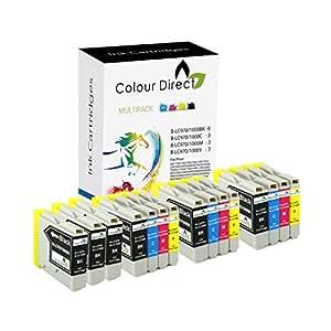 15 Colour Direct Compatible Cartouche D'encres Pour Brother LC970 / LC1000 - DCP130C / DCP135C / DCP150C / DCP155C / DCP330C / DCP350C / DCP375C / DCP540CN / DCP560CN / DCP750CW / DCP770CW / Brother MFC230C / MFC235C / MFC240CN / MFC240C / MFC260C / MFC440C440CN / MFC465CN / MFC660CN / MFC665CW / MFC680CN / MFC685CW / MFC345CW / MFC885CW / MFC3360C / MFC5460CN / MFC5860CN / Brother Fax1360 / Fax1355 / Fax2480C / Fax1460 / Fax