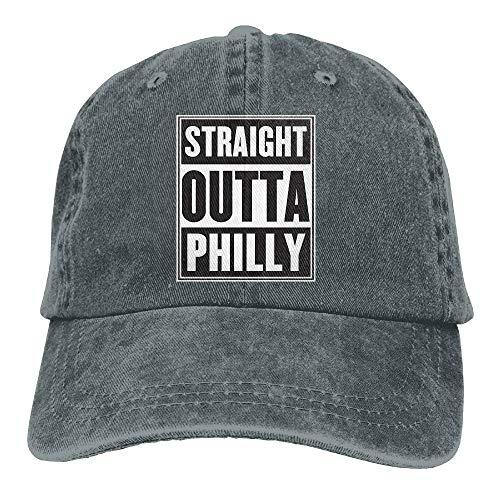 wwoman Gerade Outta Philly Denim Baseballmütze Einstellbare Baumwolle Sport Strap Cap für Männer Frauen
