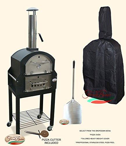 Forno Buono® - Amalfi Pizza Oven Wood-Fired Patio Garden Outdoor Bread Oven - Cover & Peel Included!!