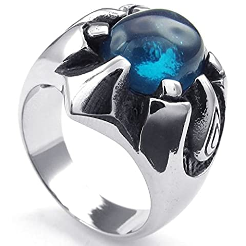 Bishilin Stainless Steel Fashion Mens Rings Punk Gothic Dragon Claw