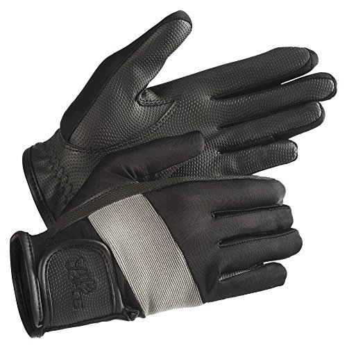 """LAG """"Tendance"""" Handschuhe, schwarz, Kontraste grau, S Stiefel Ariat ' Bekleidung"""