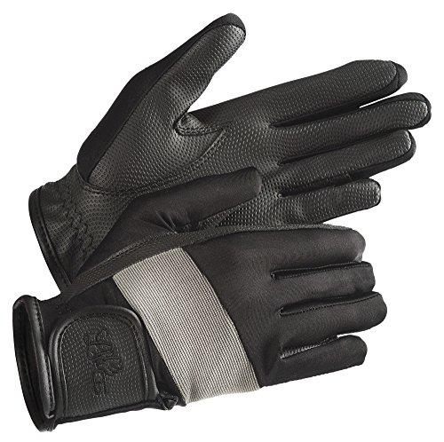 "LAG ""Tendance"" Handschuhe, schwarz, Kontraste grau, S (Galopp Stiefel)"