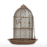 YJWKR Sculpture decoration Bird Feeder Bird Cage Feeder Hanging Wild Bird House Metal Feeder Garden Backyard Decoration Bird Cage Accessory Gift