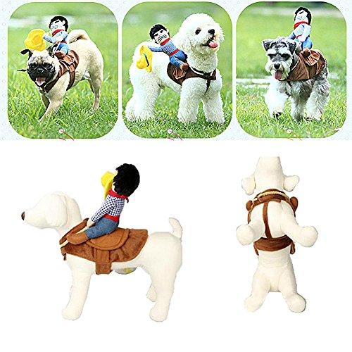 Katze Halloween Kostüm Lustige Hund Cowboy Rider Kleidung Haustier Fancy Dress Outfit (Lustige Hunde In Halloween-kostüme)