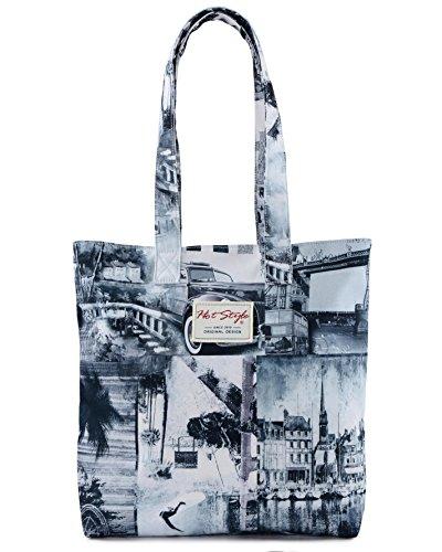 [HotStyle Fashion stampato] Vintage London in borsa per la scuola